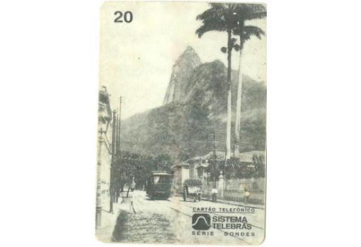 Cartão postal de Bondes no JB. séc XIX